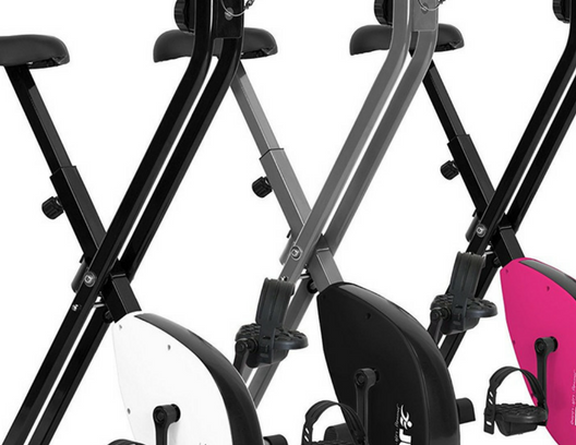 Close up folding exercise bikes