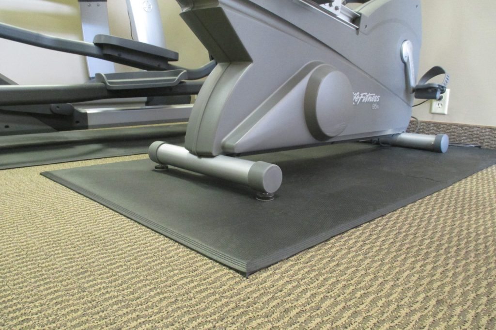 Exercise Bike on Mat