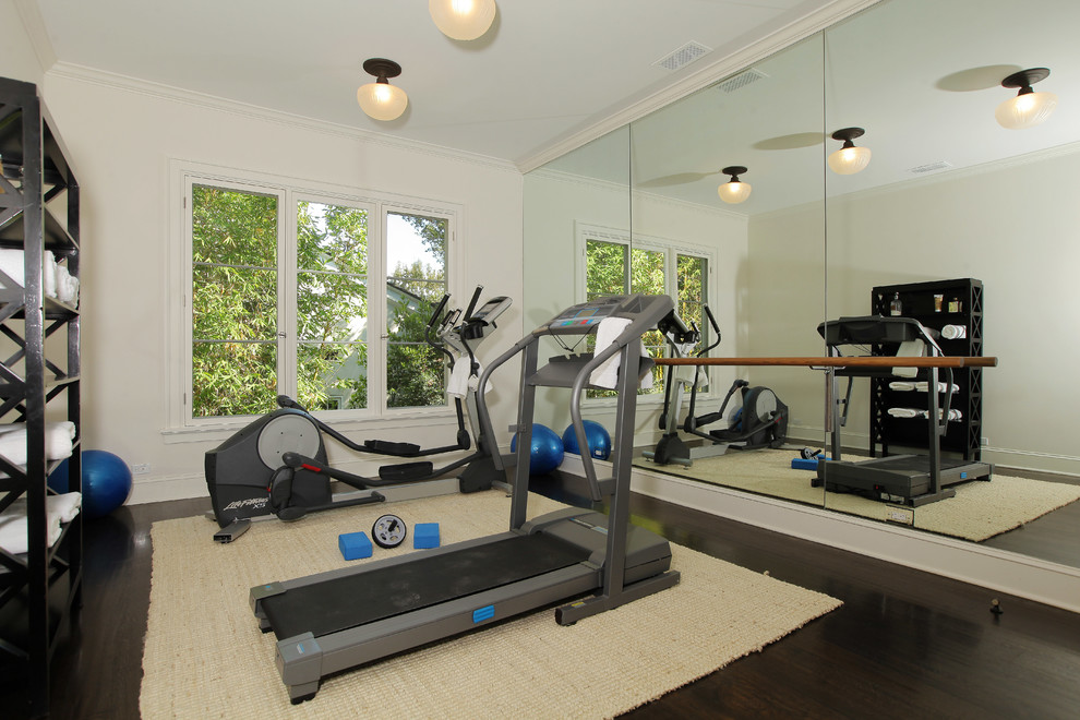 Treadmill in home gym
